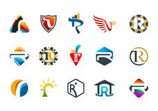 Conception sophistiquée de symbole de concept de la lettre r Image stock