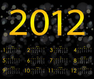 Conception spéciale 2012 de calendrier Photo stock