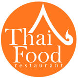 Conception thaïe de logo de restaurant de nourriture Photos libres de droits