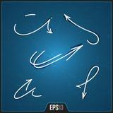 Conception tirée par la main de flèches Éléments de vecteur Illustration créative de flèches de Digital EPS10 Illustration Libre de Droits