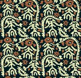 Conception traditionnelle sans couture de batik illustration stock