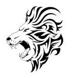 Conception tribale de tatouage de lion Images stock