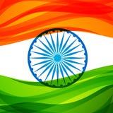 Conception tricolore indienne de vecteur de fond de drapeau Photo stock