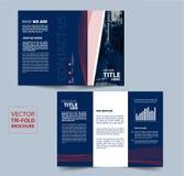Conception triple de vecteur de brochure pour votre société Photos stock