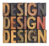 Conception - typographie en bois de cru Image libre de droits