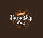 Conception typographique d'amitié de vecteur heureux de jour Image stock