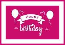 Conception typographique de vecteur de joyeux anniversaire pour les cartes de voeux, la copie et les tissus illustration stock