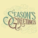 Conception typographique des salutations de la saison illustration de vecteur