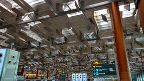Conception unique de dessus de toit d'aéroport de Singapour Changi Image stock