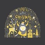 Conception unique de Noël Photographie stock