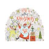 Conception unique de Noël Images stock