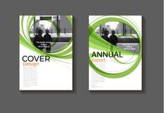Conception verte BO moderne de fond d'abrégé sur couverture de disposition de calibre illustration de vecteur