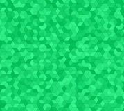 Conception verte de fond de modèle de mosaïque du cube 3d Photographie stock libre de droits