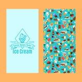 Conception verticale d'insecte de crème glacée  Photographie stock libre de droits
