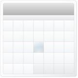 Conception vide de calendrier Photo libre de droits