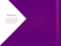 Conception violette abstraite de calibre de couverture de rapport Photos stock