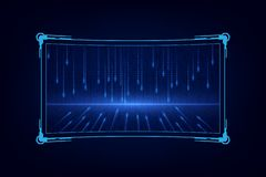 Conception virtuelle de hud d'ui de GUI de futur système futuriste abstrait d'écran illustration libre de droits