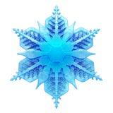 Conception vitreuse de flocon de neige du bleu 3D Photo stock