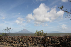 Conception volcano at Ometepe island, Nicaragua stock photos