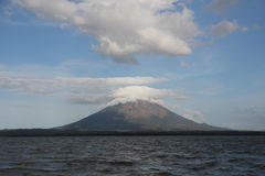Conception volcano at Ometepe island, Nicaragua stock photography