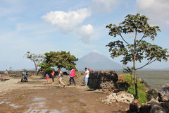 Conception volcano at Ometepe island, Nicaragua stock image