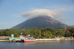 Conception volcano at Ometepe island, Nicaragua royalty free stock photos
