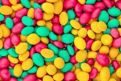 Conception web de fête verte jaune d'enfance de base lumineuse rose de modèle vitrée par sucrerie images libres de droits