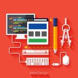 Conception web Programme pour la conception et l'architecture Photographie stock libre de droits