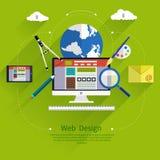 Conception web Programme pour la conception et l'architecture Photos libres de droits