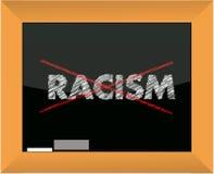 Conceptional chalk drawing - No racism. Illustration design royalty free illustration