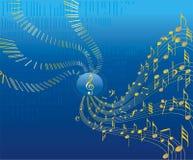 conceptional musik för abstrakt bakgrund Arkivfoto