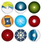 Conceptions 3 d'étiquette de CD et de DVD Image libre de droits