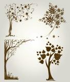 Conceptions avec l'arbre décoratif des lames Images libres de droits