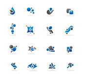 Conceptions bleues d'abstrait Photo libre de droits