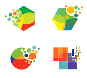 Conceptions colorées Photos libres de droits