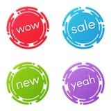 Conceptions créatives de remise de vente ou de label de promotion, prix à payer, s Images libres de droits