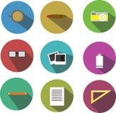 Conceptions d'appartement d'icône de bureau Photographie stock libre de droits