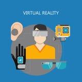 Conceptions d'appartement de réalité virtuelle Image stock