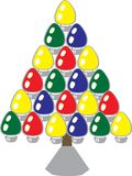 Conceptions d'arbre de Noël images stock