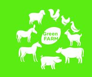 Conceptions d'icône de logo de la ferme d'animaux illustration stock