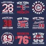 Conceptions d'impression de T-shirt réglées image libre de droits