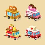 Conceptions de camion de nourriture Ensemble de graphismes de vecteur illustration libre de droits