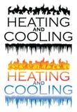 Conceptions de chauffage et de refroidissement illustration stock
