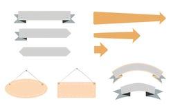 Conceptions de flèche Images stock