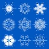 Conceptions de flocon de neige de fractale   Images stock