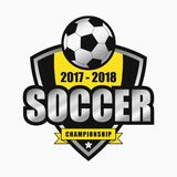 Conceptions de logo du football Emblème de sports Vecteur Photographie stock