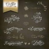 Conceptions de menu de café de style de vintage Images libres de droits