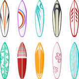 Conceptions de planche de surfing illustration de vecteur