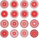 Conceptions de rouge Image stock