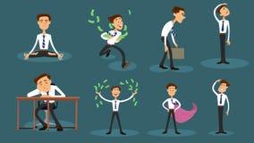 Conceptions différentes des employés de bureau 8 illustration de vecteur